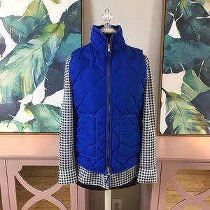 J. Crew Blue Puffer Winter Vest